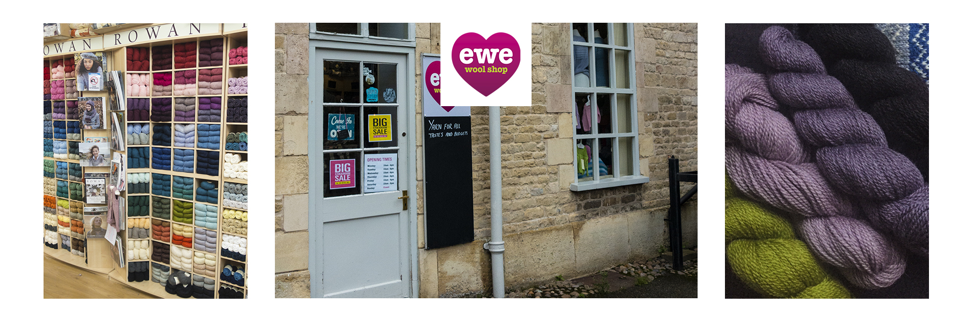 Ewe wool shop is in the beautiful town of Stamford, Lincolnshire.You can find us at 4 Stamford Walk just off the High Street. Ewe was opened in 2011 by Rachel and became a Flagship store in 2017. The business has continued to grow and we are now online too. We stock a large range of mainly natural fibres for knitting and crochet.