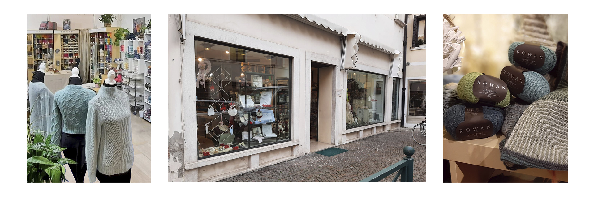 "Based in the center of Treviso, we are a shop where you are welcomed by the friendliness and knowledge of the owner Eugenia.  ""My goal has always been to know I am giving my customers the opportunity to choose the best yarn by offering them quality products. Th"