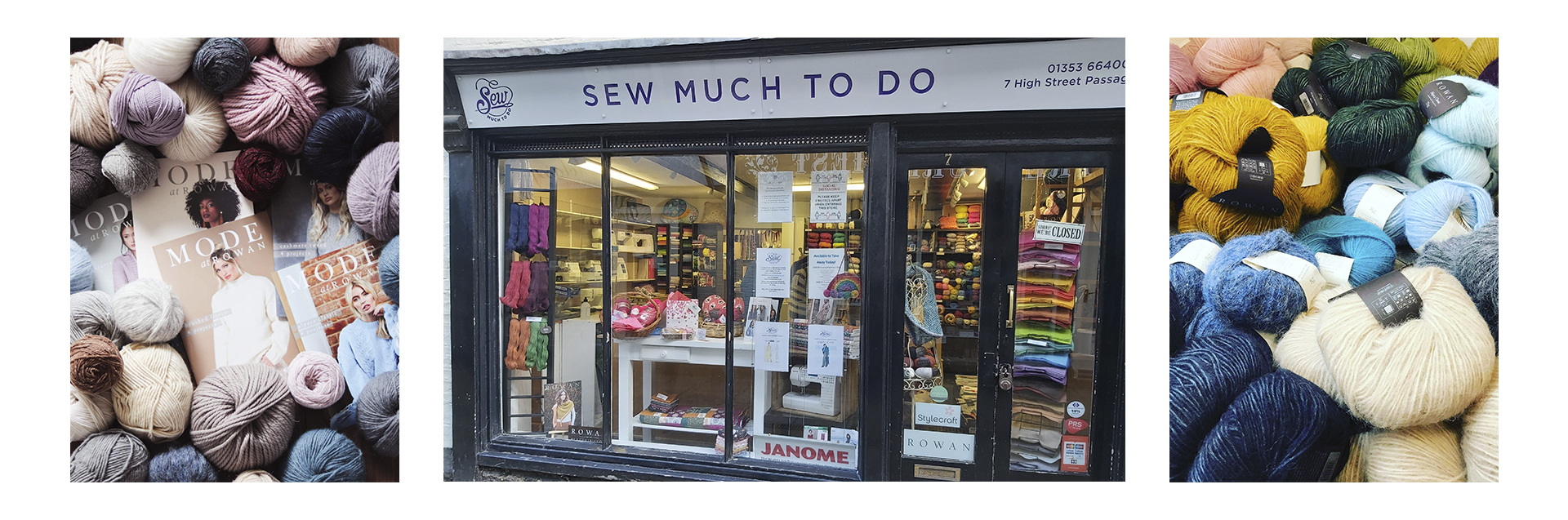 Based in the heart of the beautiful cathedral city of Bury St Edmunds, we're a small independent business offering a gorgeous selection of yarn and fabrics, along with a variety of haberdashery and crafting supplies. We have a sister shop in Ely and also ship worldwide via our website.