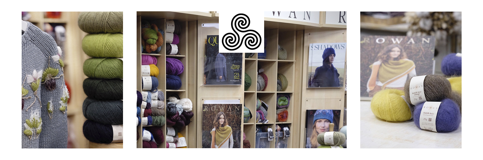 """""""Triskele"""" handicraft salon has a 20-year history and is located in the center of Moscow. We offer a wide range of products, including more than 20 brands of yarn and other goods for handicraft. Delivery all over the world is available for all knitting products from our online store."""