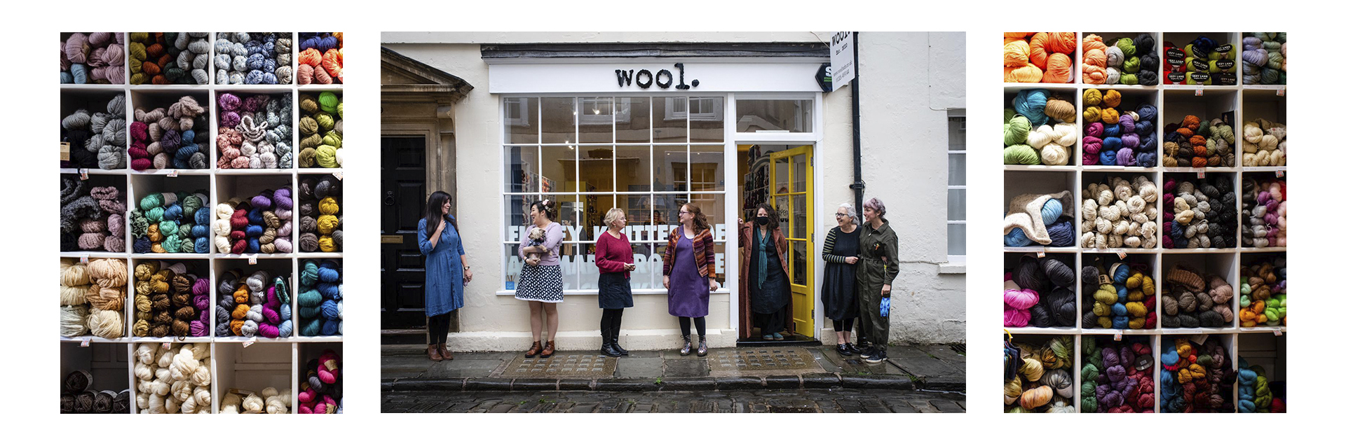In central Bath but set back from the hustle and bustle you will find Wool - a haven for knitters and crocheters since 2010