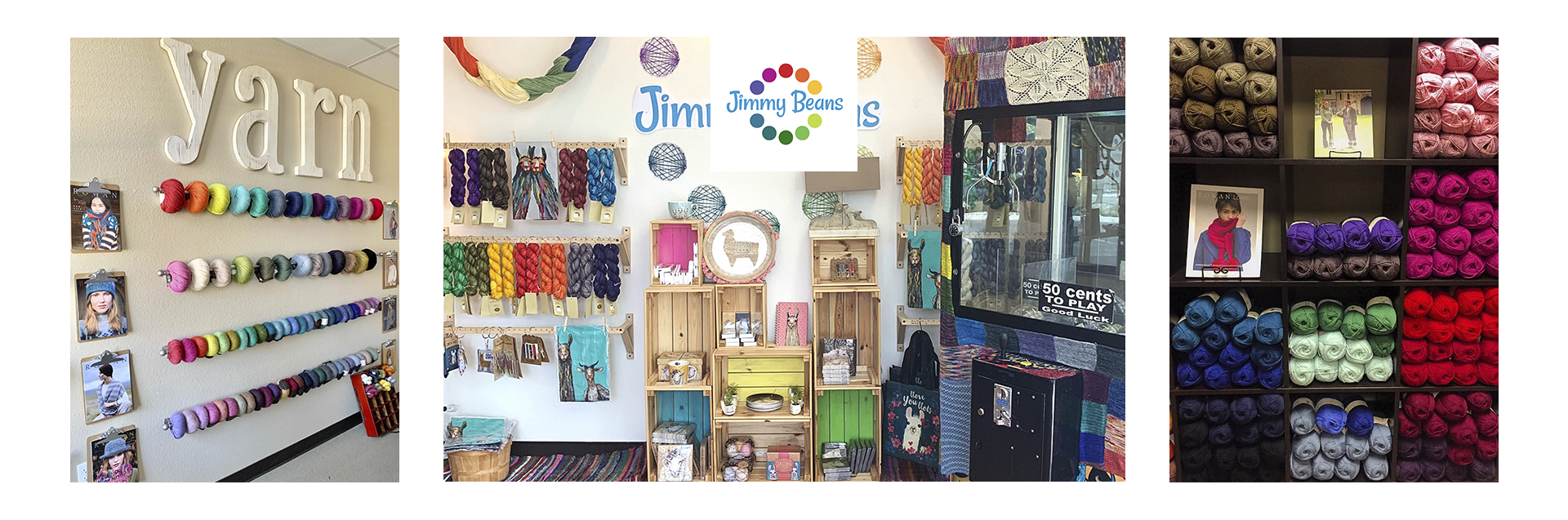 Owned by @laurazander, Doug, and Huck Zander.  Jimmy Beans Wool is a Local Yarn Store...in Reno & Online!