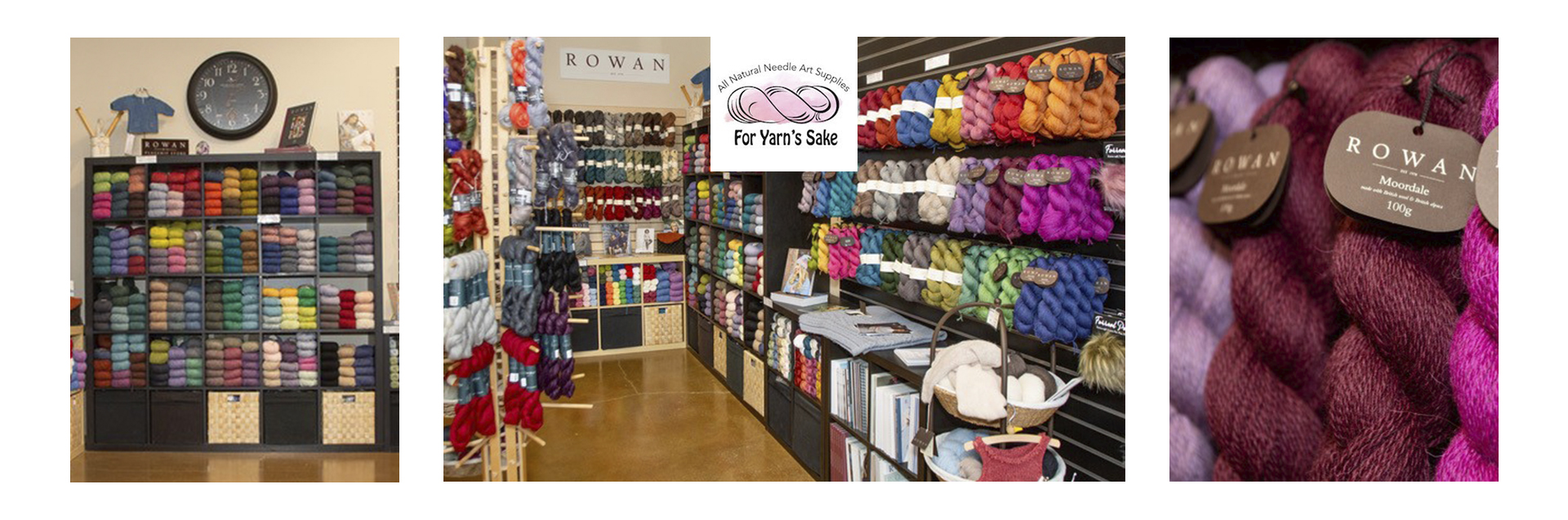 Since opening in 2009, For Yarn's Sake has proudly offered its customers a wide range of Rowan yarns and products, prominently showcased in their own micro shop.