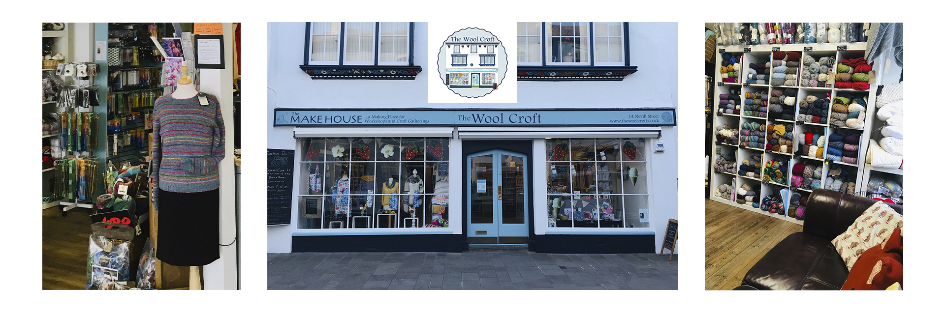 The Wool Croft is a well-established, modern yarn and craft store in the heart of Abergavenny, Wales. The shop won the Award for Best Independent Wool Shop in Wales four times in the Let's Knit National Knitting Awards.