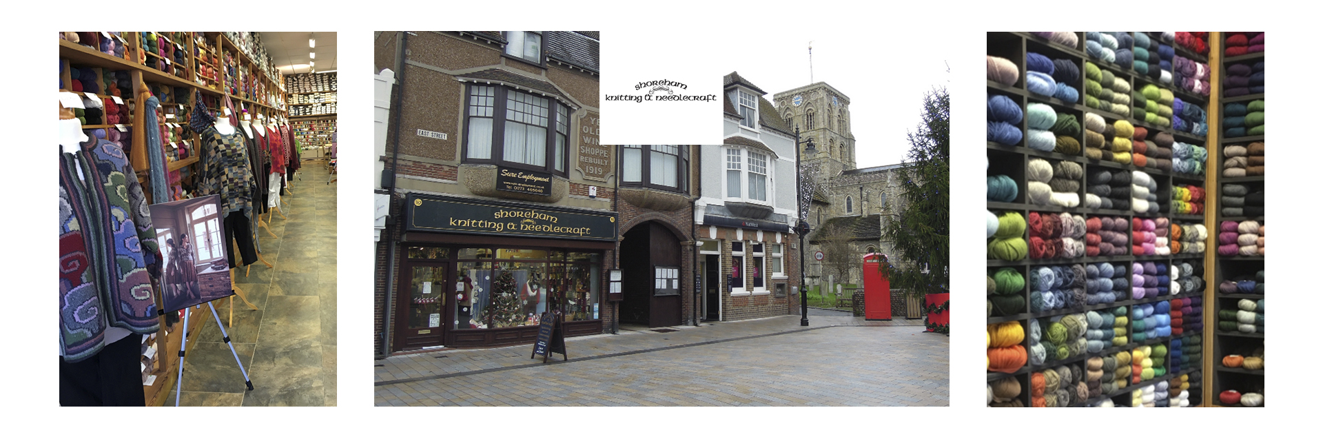 Situated in a pretty seaside town, a stone's throw from the River Adur and the sea, a historic building in Shoreham-by-Sea is home to Shoreham Knitting and Needlecraft, the first independent yarn store in the UK to stock Rowan yarns.