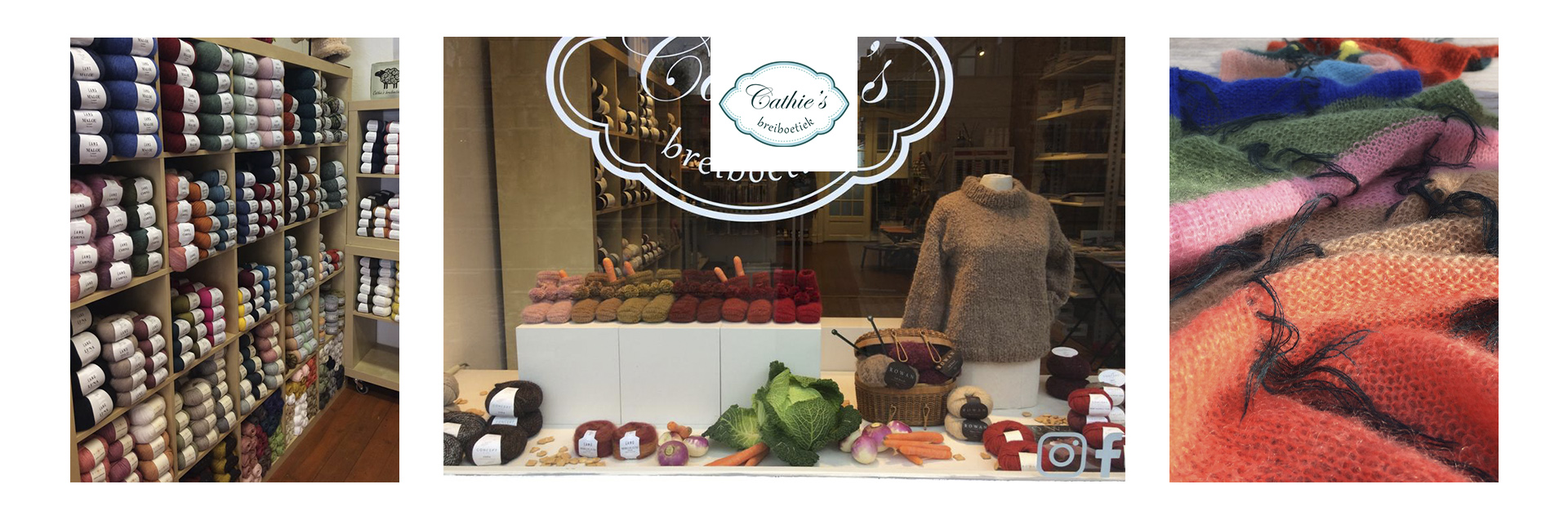 Cathie's Breiboetiek is a very well known luxury knitting boutique in Bruges and famous for outstanding quality and a perfect service. Here you will find an extensive product range of the finest wool, yarn, accessories and all equipment for knitting and crocheting, all of the highest standard in quality. Cathie is a strong believer in bringing people together, inspiring yourself and others, all in the right atmosphere.