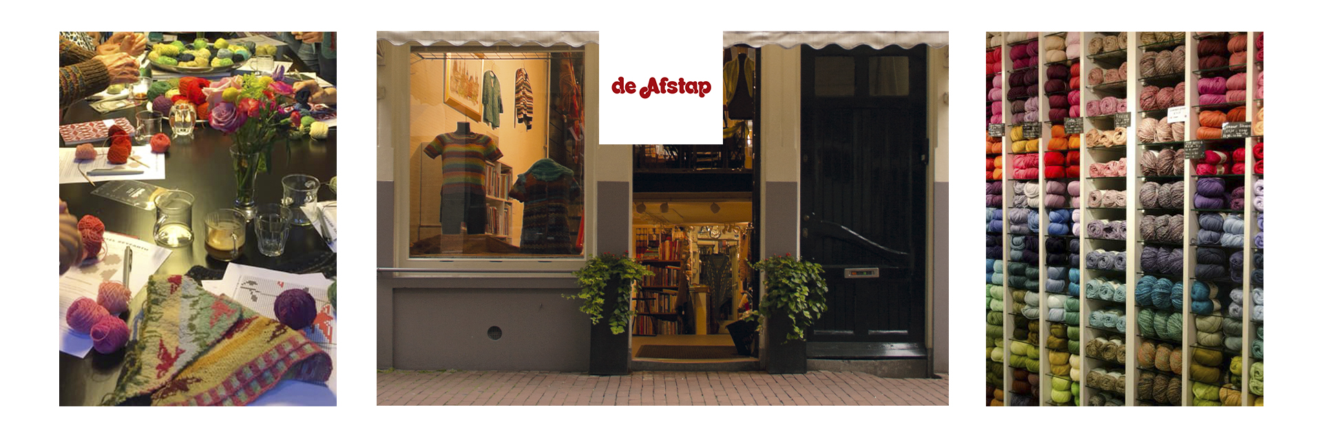 The Afstap in the center of Amsterdam, is the Flagship shore for the British Rowan Yarns. We offer crafters a wide range of products for knitting, embroidery and other textile crafts in the shop and webshop. With many activities like workshops and courses, the shop is a well-known meeting point for Dutch crafters, as well as crafters from all over the world.