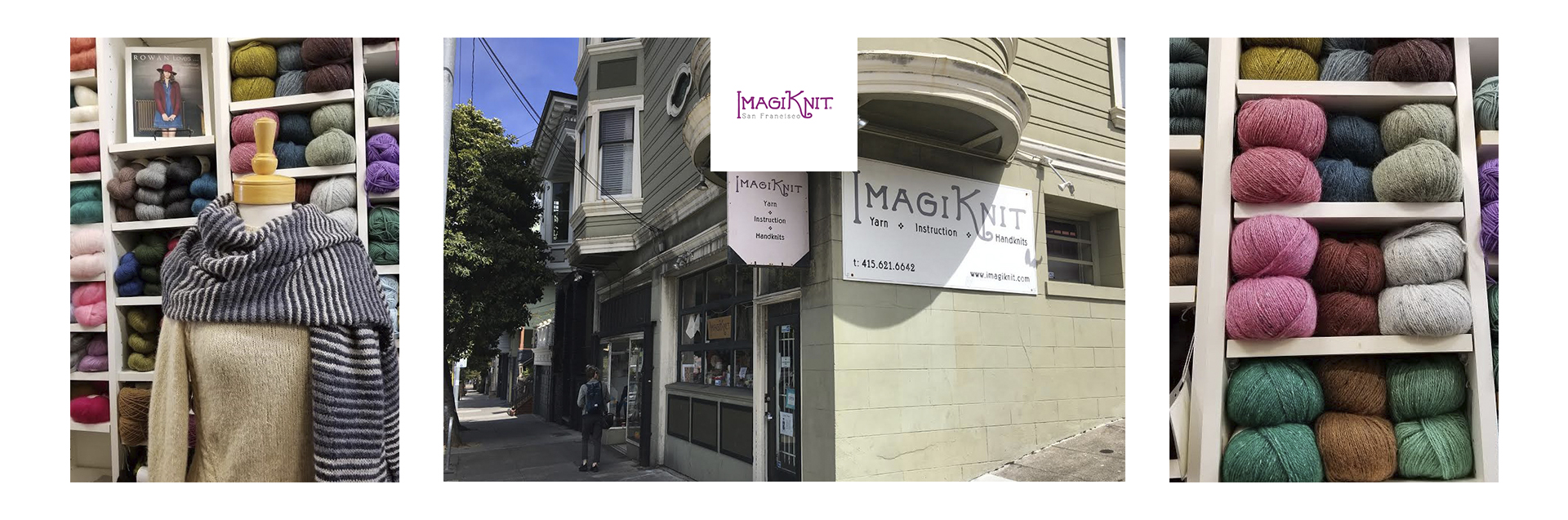 ImagiKnit has been San Francisco's destination yarn shop for over 18 years. Rowan yarns and accessories have been store favorites since the shop opening.