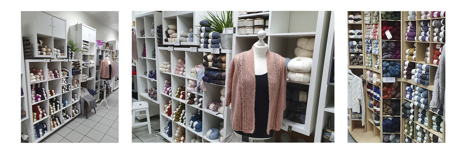 Situated in the heart of the medieval city center of Schwäbisch Gmünd you will find the Rowan Flagship Store, Strickmit!. A knowledgable team, showcases Rowan yarn and other brands in a store of over 140sqm.