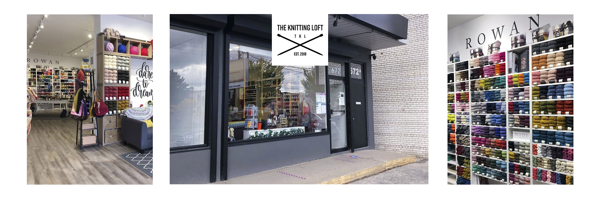 Focused on natural fibre, rustic, and indie dyed yarn, The Knitting Loft is a local yarn shop based in Toronto, which has quickly become known for its modern aesthetic, differentiated yarn selection, and community experience. A must see yarn destination for anyone who's visiting the city!